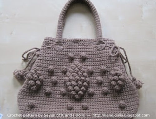 Taupe Bag crochet